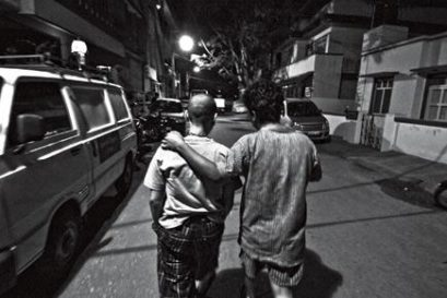 Undocumented citizen: Gee Imaan Semmalar (right) with a friend in Bangalore (Photo: Javed Iqbal)
