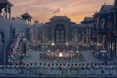 Sets of Bajirao Mastani designed by Sujeet Sawant and Sriram Iyengar