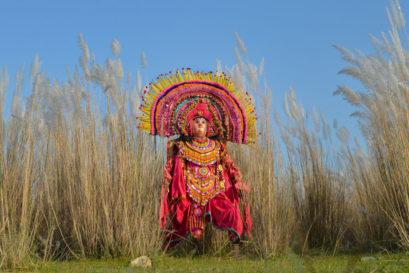A Chhau dancer from West Bengal