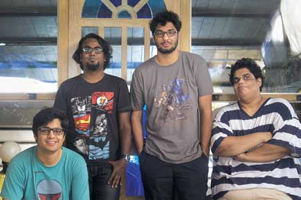 (L-R) Rohan Joshi, Ashish Shakya, Gursimran Khamba, Tanmay Bhat (Photo: Getty Images)