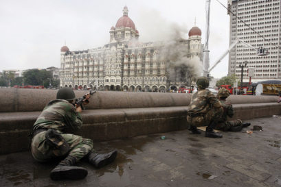 The Indian Army outside the Taj Mahal Hotel, 2008