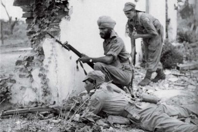 Indian forces stave off the Japanese in Burma, 1945