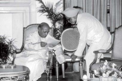 PV Narasimha Rao with Manmohan Singh