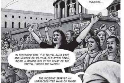 A panel from The Girl Not From Madras