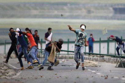 Stone pelters in Srinagar on 12 July