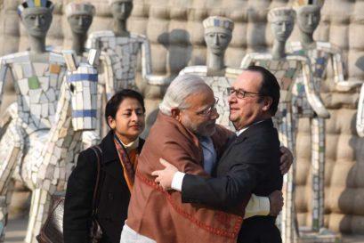 Prime Minister Narendra Modi with French President François Hollande