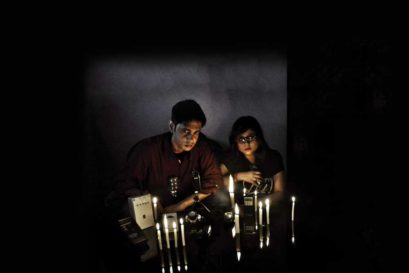 Avijit Sarkar and Amrita Chatterjee, founders of the Indian Specter Paranormal Society, prepare for a ghost hunt in Kolkata (Photo: Ronny Sen)