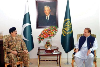 Chief of Army Staff General Raheel Sharif with Pakistan Prime Minister Nawaz Sharif in Islamabad
