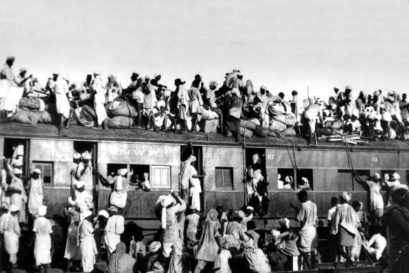 A train carrying refugees to Pakistan in September 1947