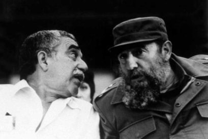 Fidel Castro (right) with Gabriel García Márquez