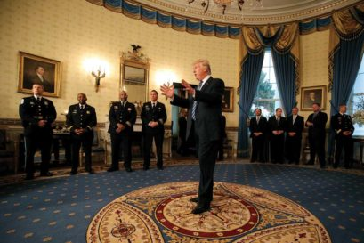 Trump at the Law Enforcement Officers and First Responders Reception