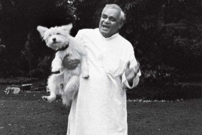Vajpayee at home in Delhi, 2008