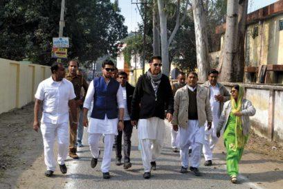 Naved Miyan (in black jacket) in Rampur