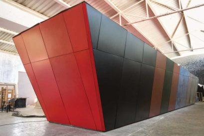 Sundaram's latest installation, Meanings of Failed Action: Insurrection 1946, on display in Mumbai