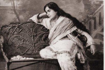 Munni Bai photographed in her signature pose