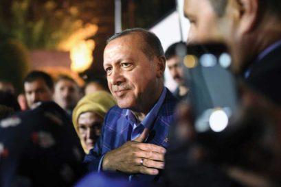 Erdoğan meets supporters at a rally in Istanbul after he claimed victory in the April 16th referendum (Photo: Getty Images)