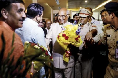Ram Nath Kovind arrives in Delhi on June 19th