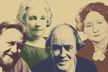 (L-R) Gerald Durrell, Laura Ingalls Wilder, Roald Dahl, Olga Perovskaya