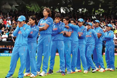 Team India after losing the ICC Women's World Cup final to England at Lord's