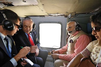 Modi and Netanyahu en route to Haifa to pay homage to Indian soldiers