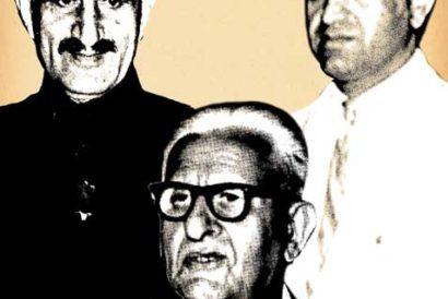 (L-R) Mohammad Yunus, KL Gauba and Azim Hussain