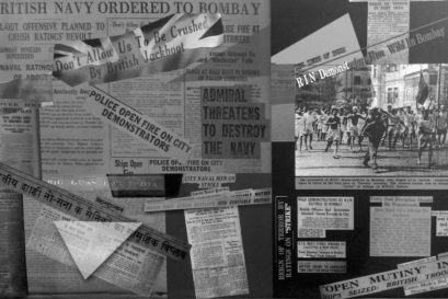 Newspaper reports of the naval mutiny published in February 1946