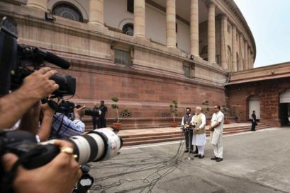 Narendra Modi on the first day of Lok Sabha's Monsoon Session, July 2017