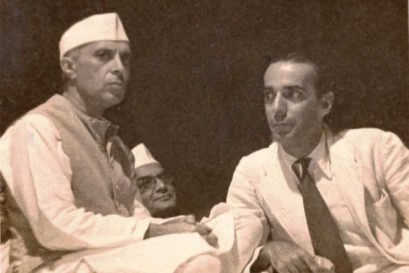 Jawaharlal Nehru and Minoo Masani in 1945