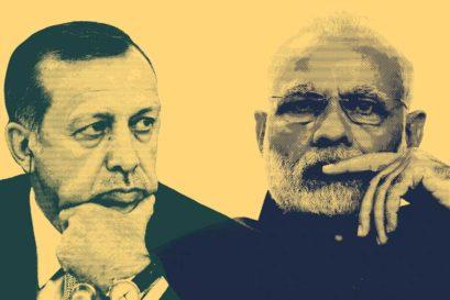 Erdoğan and Narendra Modi