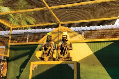 Statues of Marudhu brothers in Rameswaram