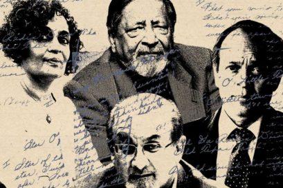 (Clockwise from top-left) Arundhati Roy, VS Naipaul, Vikram Seth and Salman Rushdie