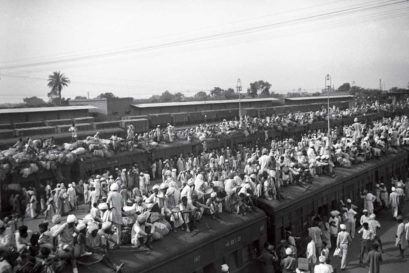 Indian refugees on a train to Pakistan