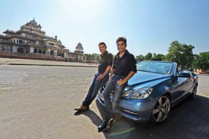 Amit (left) and Anurag Jain in Jaipur