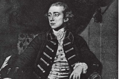 A portrait of Warren Hastings