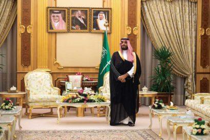 Muhammad bin Salman at the royal palace in Riyadh