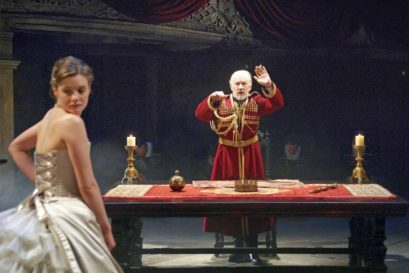 Ian McKellen and Romola Garai in Jonathan Munby's theatrical production of King Lear
