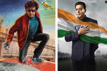 Kamal Haasan in Vishwaroopam; Rajinikanth in Endhiran 2