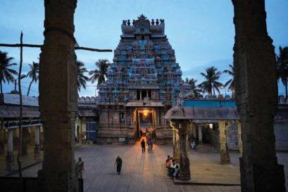 The Srirangam temple in Tiruchirapalli, Tamil Nadu