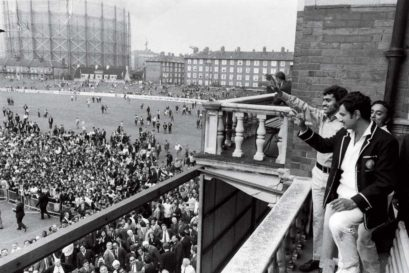 The Oval,1971: Indian skipper Ajit Wadekar and teammate BS Chandrasekhar at the Oval, August 24, 1971