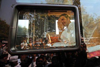 Rahul Gandhi at a Congress rally in Gujarat, November 11