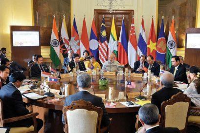 Modi at the ASEAN-India Summit, Rashtrapati Bhavan, Delhi, on January 25