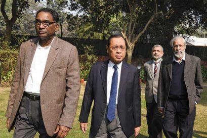 Supreme Court Justices (L-R) J Chelameswar, Ranjan Gogoi, Kurian Joseph and Madan Lokur