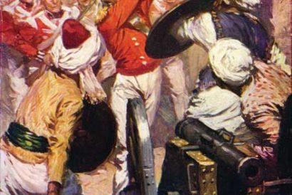 Lieutenant Pattinson at the Presence of Karyguam, a painting of the 1818 Bhima Koregaon Battle