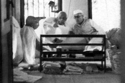 Gandhi, Patel and Nehru, 1946