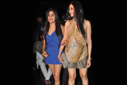 Sridevi with her daughter Janhvi at the Lakme Fashion Week in Mumbai, May 2012