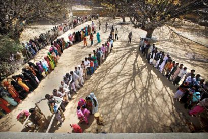 A polling station in Moradabad, UP