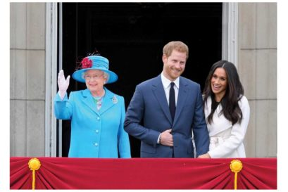 Queen Elizabeth, Prince Harry and his fiancé Meghan Markle