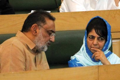 Former Finance Minister of J&K Haseeb Drabu with Chief Minister Mehbooba Mufti in 2016