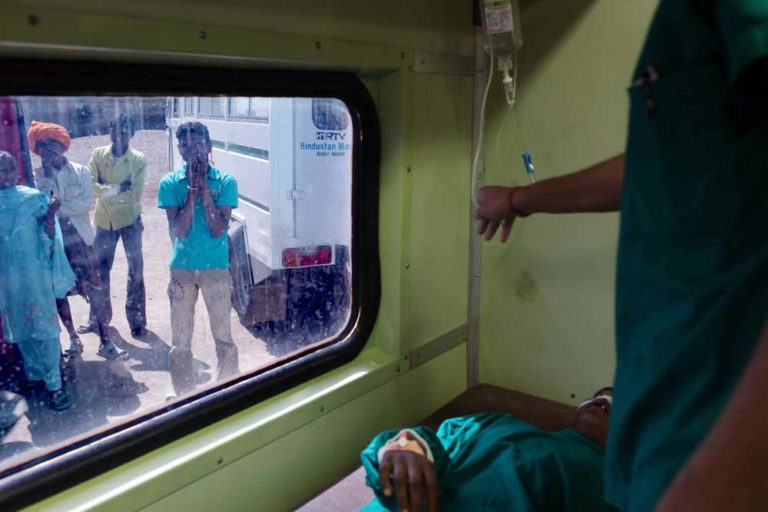 Doctors visit remote regions of India aboard the Lifeline Express, the world's first hospital train