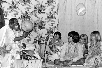 The Beatles with Maharishi Mahesh Yogi in Rishikesh